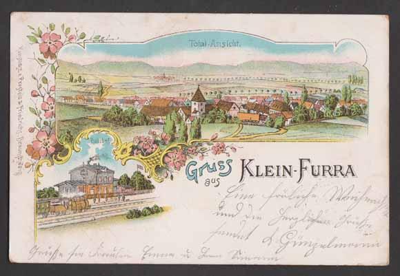 08582b0128f Lithographie Klein Furra b. Sondershausen
