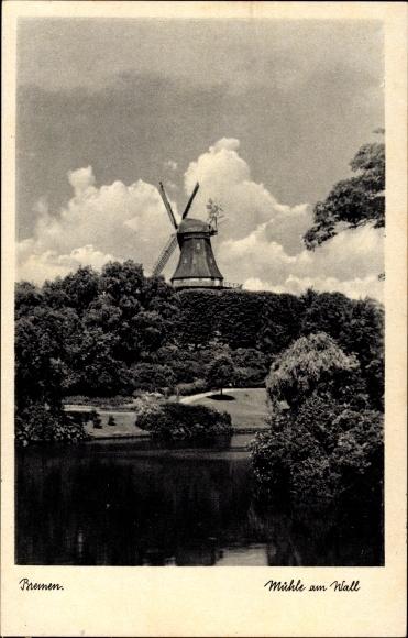 Hansestadt Bremen, Blick auf die Windmühle am Wall