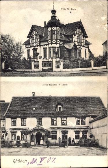 Rhüden Seesen in Niedersachsen, Villa Bock, Hotel Rathaus Bock