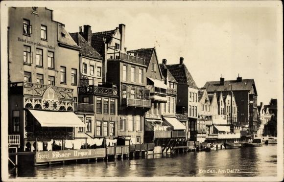 Ansichtskarte postkarte emden in ostfriesland partie am for Juist unterkunft gunstig