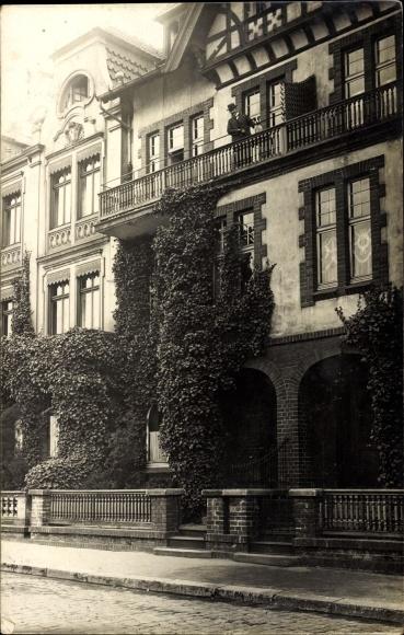 photo postcard barmen rittershausen wuppertal in nordrhein westfalen blick auf ein wohnhaus. Black Bedroom Furniture Sets. Home Design Ideas