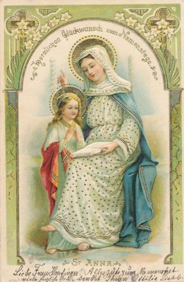 Präge Ansichtskarte Postkarte Glückwunsch Namenstag St Akpoolde
