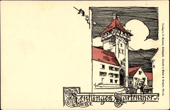 Künstler Reutlingen künstler ansichtskarte postkarte reutlingen in baden akpool de