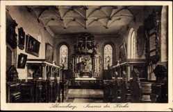 Postcard Ahrensburg im Kreis Stormarn, Inneres der Kirche