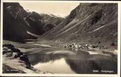 Postcard Gudvangen Sognefjord Norwegen, Siedlung im Fjord, Totalansicht