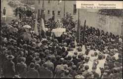 Ak Echternach Luxemburg, Springprozession, die Predigt in Echternacherbrück