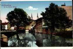 Ak Bydgoszcz Bromberg Westpreußen, Partie an den königlichen Mühlen
