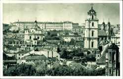 Postcard Wilno Vilnius Litauen, Totalansicht der Ortschaft, Kirche, Häuser