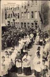 Ak Echternach Luxemburg, Procession dansante, Clergé, Relig. Prozession