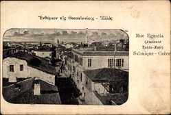 Postcard Tahta Kalé Griechenland, Rue Egnatia, Straße im Ort