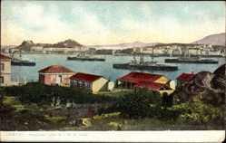 Postcard Korfu Griechenland, Panorama pris de l'Ile de Vido