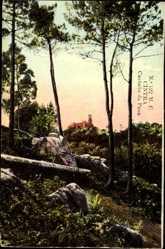 Postcard Cintra Sintra Portugal, Castello da Pena, Blick auf das Schloss