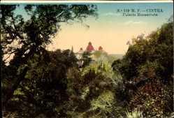 Postcard Cintra Sintra Portugal, Palacio Monserrate, Blick auf den Palast