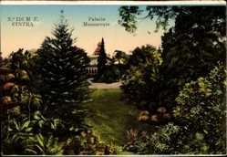 Postcard Sintra Cintra Portugal, Palacio Monserrate, Blick auf den Palast, Parkanlage