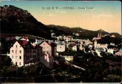 Postcard Cintra Sintra Portugal, Vista Geral, Blick auf den Ort, Berge, Häuser