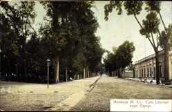Postcard Mendoza Argentinien, Calle Libertad esqu. Espejo, Straßenpartie