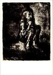 Künstler Ak Weber, A. Paul, Der Gefangene, Die Verzweiflung