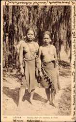 Ansichtskarte / Postkarte Annam Vietnam, Femmes Mois des environs de Dalat, Vietnamesinnen