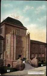 Postcard Mannheim in Baden Württemberg, Jubiläums Ausstellung, Kunsthalle, Portal