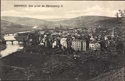 Postcard Diekirch Luxemburg, Vue prise du Herrenberg II., Blick auf den Ort