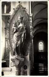 Foto Ak Regensburg, Kirche, Innenansicht, Heiligenbildnis, Maria und Jesus