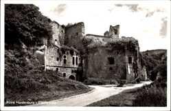 Postcard Bad Dürkheim Pfälzerwald, Blick auf die Ruine Hardenburg, Mauerwerk