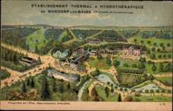 Postcard Bad Mondorf Luxemburg, Établissement Thermal, Hydrothérapique