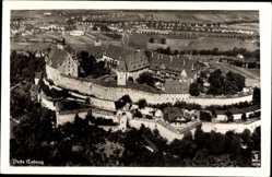 Postcard Coburg in Oberfranken, Fliegeraufnahme von der Feste