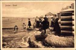 Ak Insel Borkum im Kreis Leer, Strandpartie, Kinder, Meer, Strandzelte