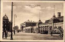 Postcard Ludwigshafen am Rhein Rheinland Pfalz, Bahnhof, Straßenbahn