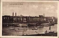 Postcard Ludwigshafen am Rhein Rheinland Pfalz, Flussdampfer, Ort
