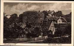 Postcard Friedberg im Wetteraukreis Hessen, Blick auf den dicken Turm, Häuser