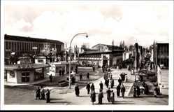 Postcard Frankfurt am Main, Blick auf das Messegelände, ADAC Pavillon, Österreich