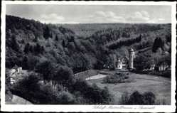 Postcard Mespelbrunn im Spessart, Blick auf Schloss Mespelbrunn, Wald