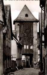Postcard Kronberg im Taunus Hessen, Blick auf das Eichentor, Straße, Fassaden