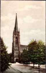 Postcard Bad Nauheim im Wetteraukreis Hessen, Blick auf die Dankeskirche