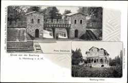 Postcard Bad Homburg vor der Höhe, Saalburg, Porta Decumana, Saalburg Hotel