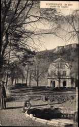 Postcard Echternach Luxemburg, Au parc, Jardin du Casino, Kasino, Garten, Fontäne