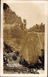 Foto Ak Oaxa Mexiko, Ruinas de Montealvan, Tempelruinen, Steinrelief
