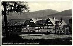 Ak Brückenberg b. Krummhübel Schlesien, Blick auf die Teichmannbaude, Stengel