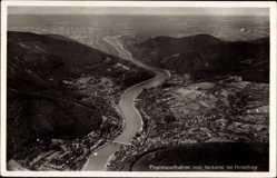 Postcard Heidelberg am Neckar, Fliegeraufnahme vom Neckartal