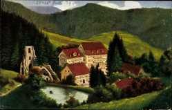 Künstler Ak Oppenau, Blick auf das Allerheiligen im Schwarzwald