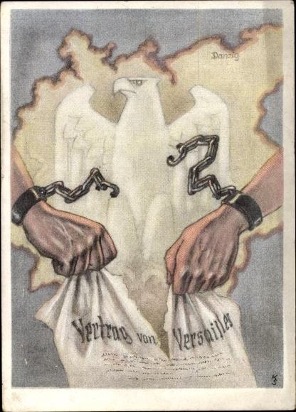 Künstler Ansichtskarte Postkarte Zerrissener Vertrag Von Akpoolde