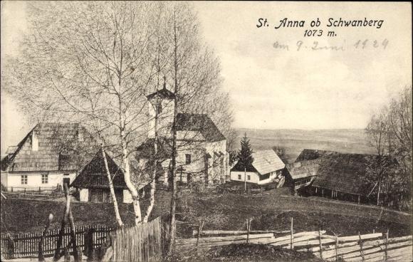 Postcard Schwanberg Steiermark St Anna Kirche Akpoolcouk