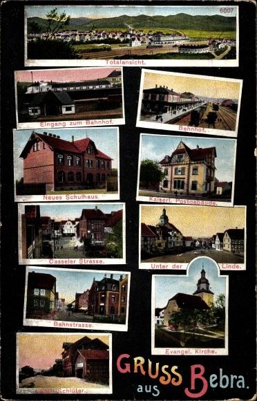 Postcard Bebra An Der Fulda In Hessen Bahnhof Post Akpoolcouk