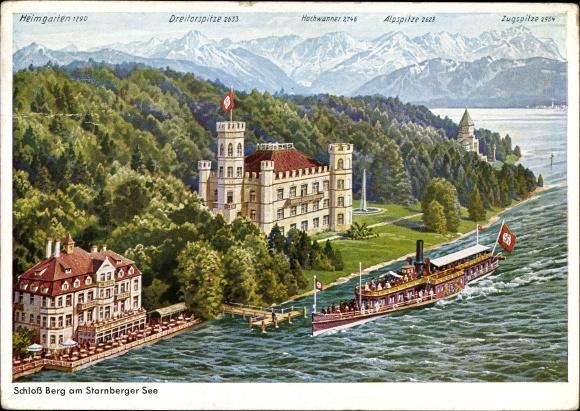 Berg Am Starnberger See artist postcard berg am starnberger see in oberbayern akpool co uk