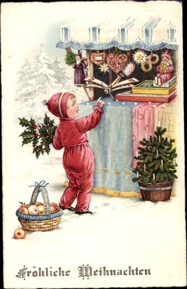 Frohe Weihnachten Flugzeug.Ansichtskarte Postkarte Frohe Weihnachten Junge An