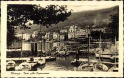 Postcard Opatija Abbazia Kroatien, Porto della Madonnina, Hafen