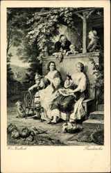 Künstler Ak v. Kaulbach, W., Friederike, Aus Goethes Leben