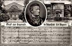 Postcard Bayreuth in Oberfranken, Komponist, Dramatiker und Dichter Richard Wagner